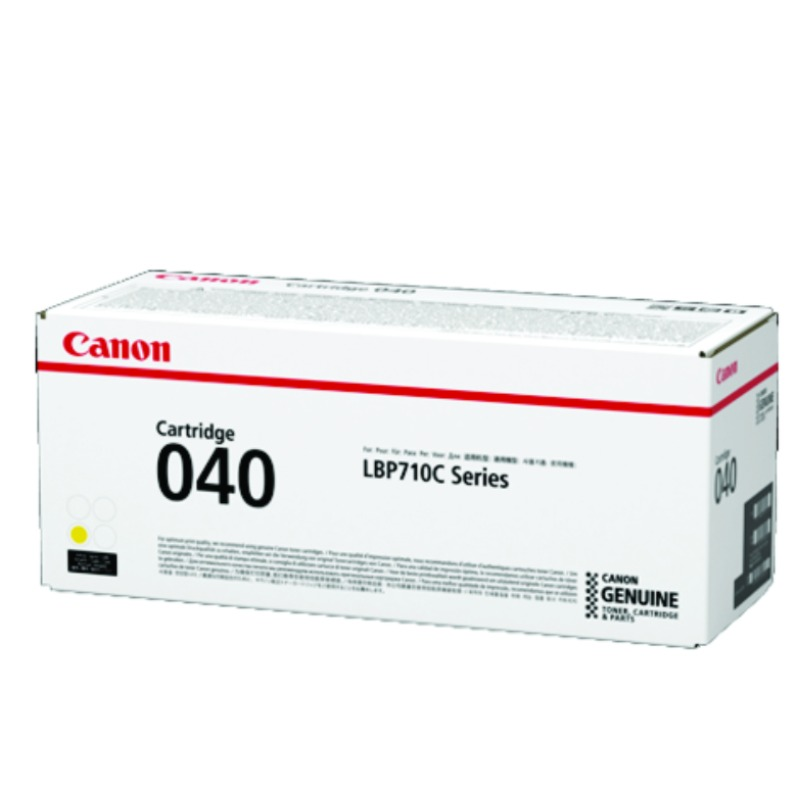 Canon CART040Y, Yellow Toner Cartridge to suit LBP712CX (Yield, up to 5,400 pages)