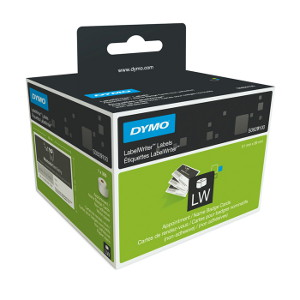 DYMO APPOINTMENT CARD/NAME BADGE 51mm X 89mm 1 Roll/Box, 300 Labels/Roll non-adhesive (929100)
