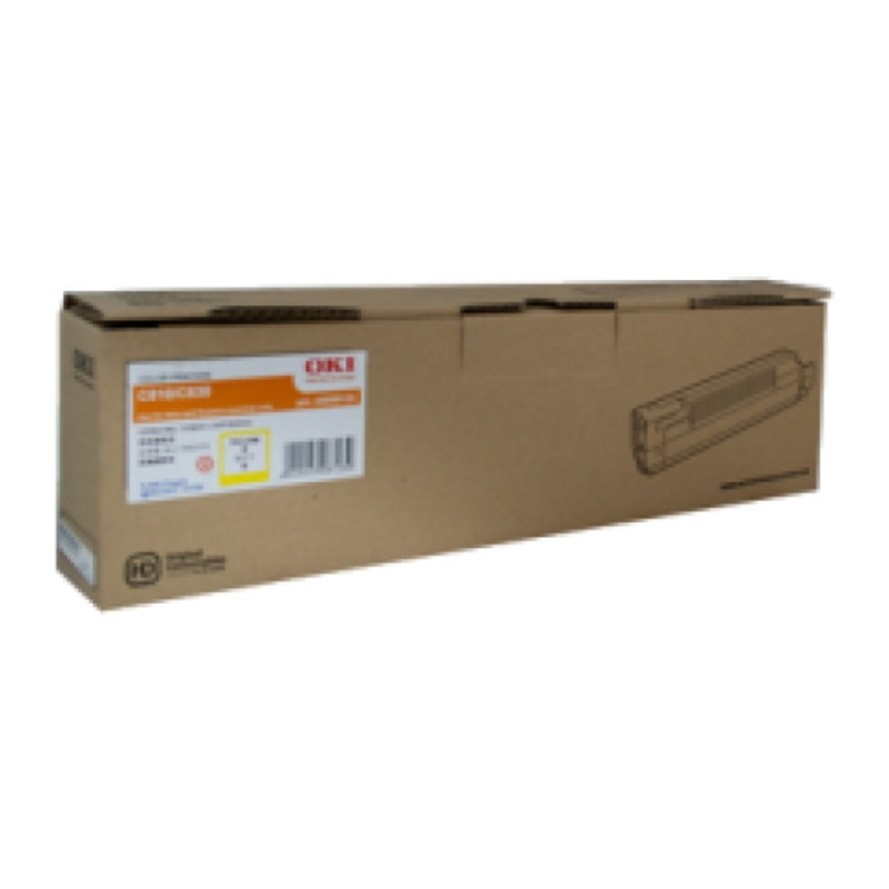 OKI 44643025 Toner Cartridge For MC862 Yellow (10,000 Pages @ ISO)