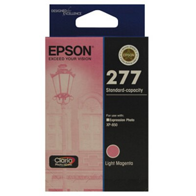 Epson C13T277692 Std Capacity Claria Photo HD Light Magenta ink (Yields up 360 pages)