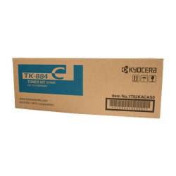 Kyocera TK-884C Cyan Toner Cartridge (18,000 Yield)