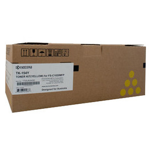 Kyocera Yellow Toner Kit to suit FS-C1020MFP (6,500 page Yield)