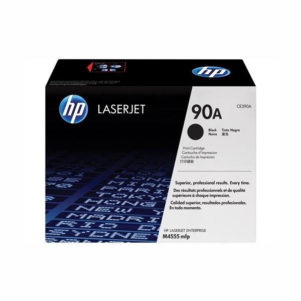 HP CE390A #90A Black Toner Cartridge (10,000 Yield)