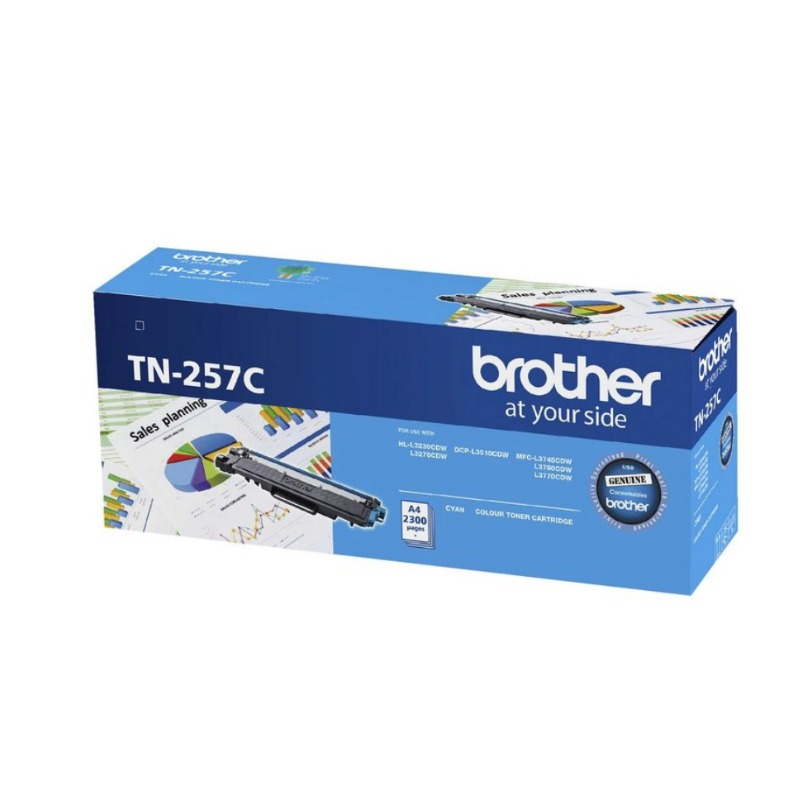 Brother TN-257C Cyan Toner Cartridge, 2 300 pages