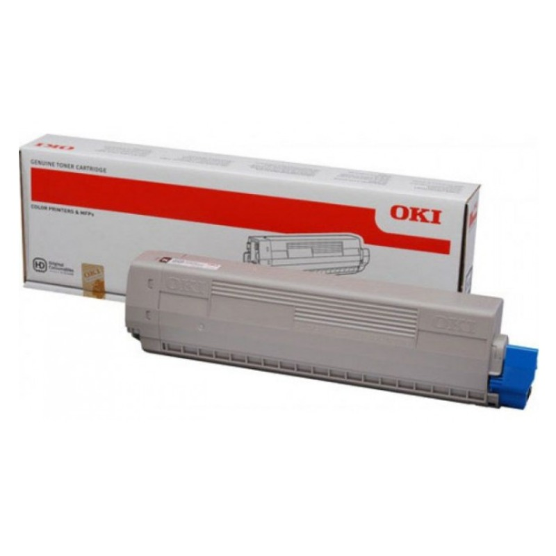 OKI 44844527 Toner Cartridge For C831N Cyan (10,000 Pages ISO)