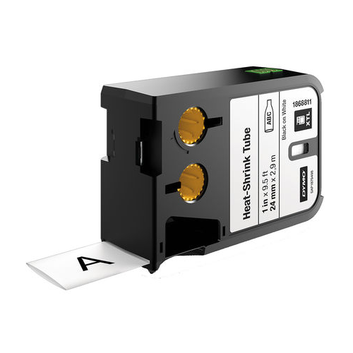 DYMO XTL 24mm Black/White HST Cont Tape