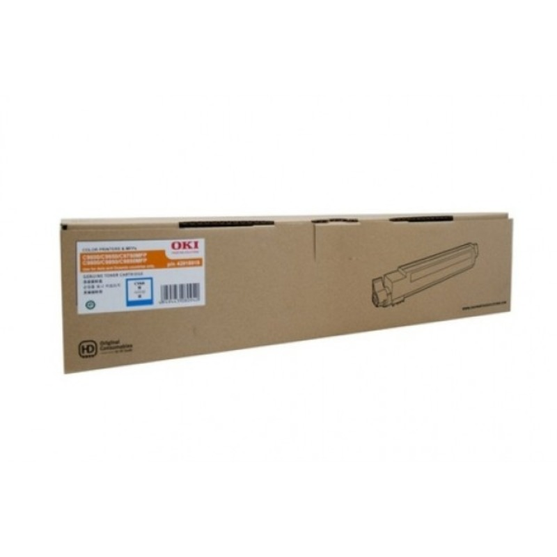 OKI 44643023 Toner Cartridge For MC852 Cyan (7,000 Pages @ ISO)
