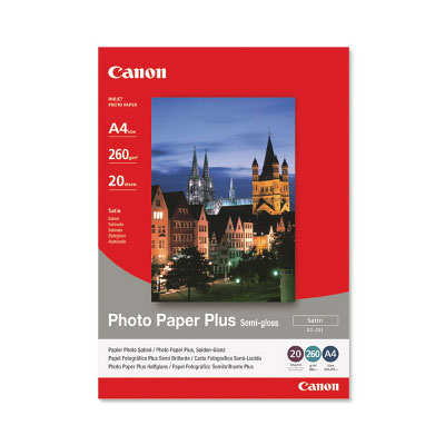 Canon SG201A4 Semi-Gloss Photo Paper, 20 Sheets per pack