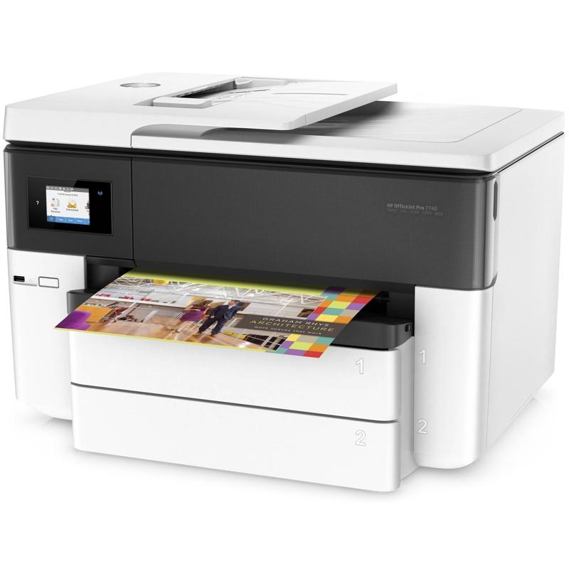 HP G5J38A OfficeJet Pro 7740 Wide Format Inkjet A3 AIO, Print, Scan, Copy, Fax, 2xTray, Duplex, WiFi