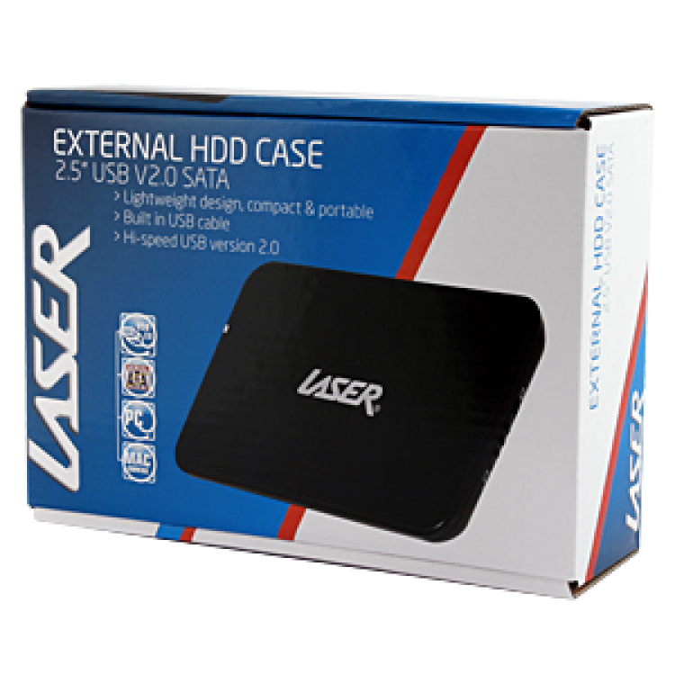 Laser CASE-2S SATA 2.5 Inch USB HDD Enclosure