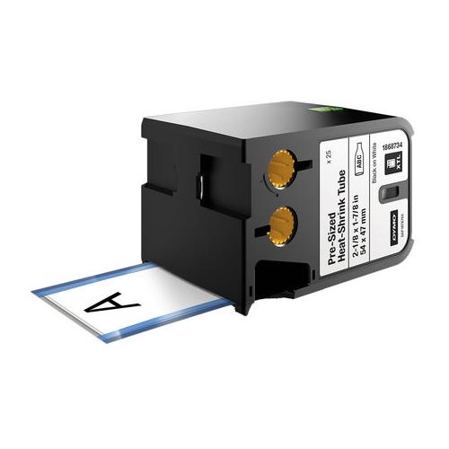 DYMO XTL 54x47mm Black/White HST Die Tape