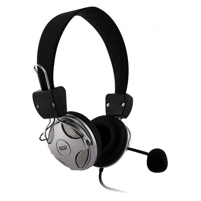 Laser Stereo Headset with Microphone and Volume Control