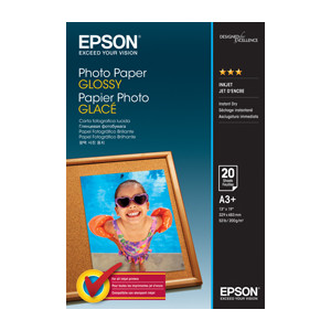 Epson C13S042535 Photo Paper Glossy, A3+, 20 Sheets Per Pack
