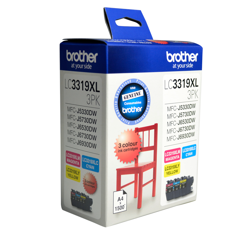 Brother LC-3319XL Colour Value Pack - 1 x Cyan 1 x Magenta 1 x Yellow