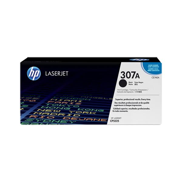 HP CE740A #307A Black Toner Cartridge (7,000 Yield)