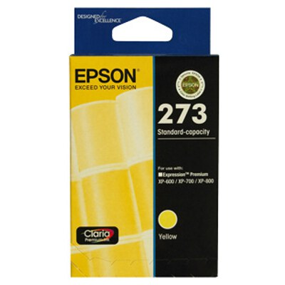 Epson C13T273492 Std Capacity Claria Premium Yellow ink (Yields up to 300 pages)