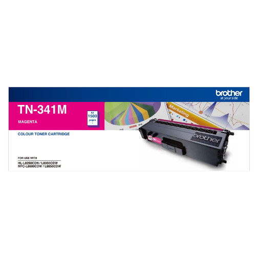 Brother TN-341M Standard Yield Magenta Toner, 1500 pages