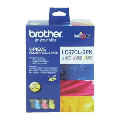 Brother LC-67CL3PK Colour Value Pack for DCP-385C