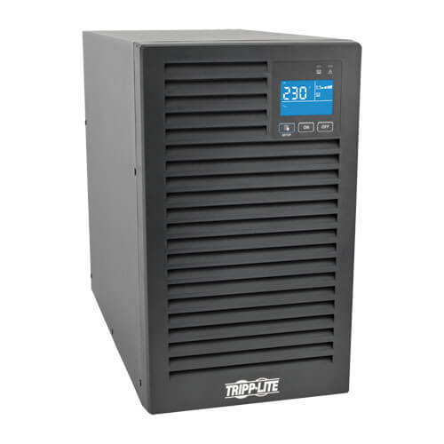 Tripp Lite SUINT2000XLCD SmartOnline 2000VA Double Conversion Tower UPS,LCD,USB,DB9,7xC13