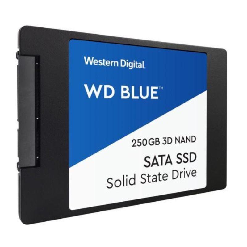 Western Digital WDS250G2B0B Blue 3D NAND, 250GB 2.5 Inch Form Factor SSD,5 Yr