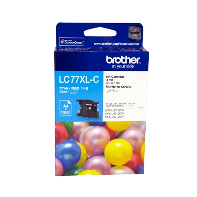 Brother LC-77XLC Super High Yield Cyan Ink Cartridge