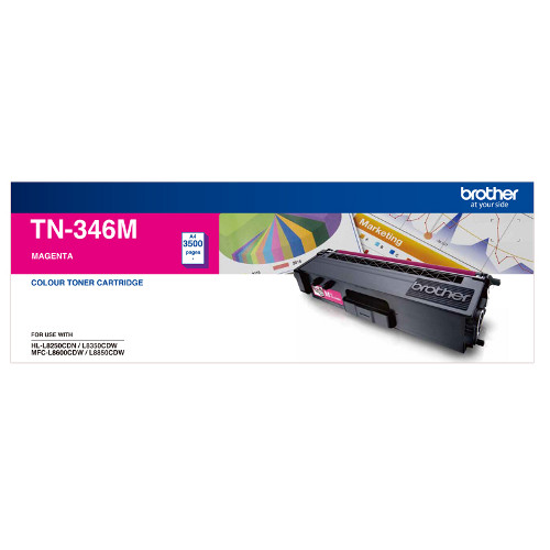 Brother TN-346M High Yield  Magenta Toner Cartridge - 3500 pages
