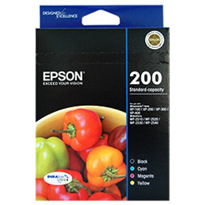Epson C13T200692 Standard Capacity Ultra 4 Ink Value Pack
