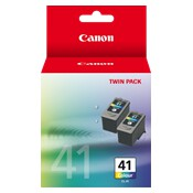 Canon CL41 Standard Yield FINE Colour Ink Cartridge - 2 Pack