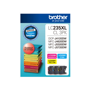 Brother LC-235XLC3PK Colour Value Pack (Yield, up to 1,200 pages)