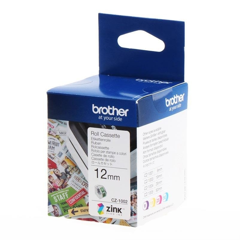 Brother CZ-1002 12mm Cassette Roll, 5m Length