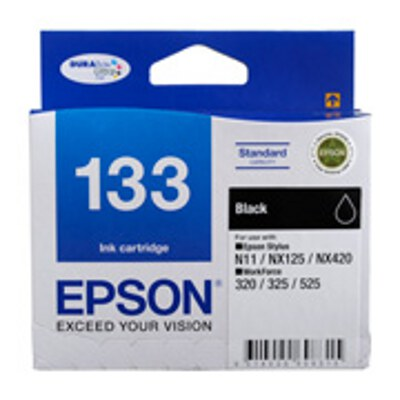Epson Standard Capacity Black ink cartridge to suit STYLUS N11, NX125, NX420, WORKFORCE 320, 325,525