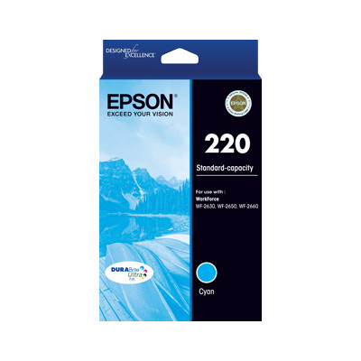 Epson C13T293292 220 Standard Capacity DURABrite Ultra Cyan ink (yield up to 165 pages)