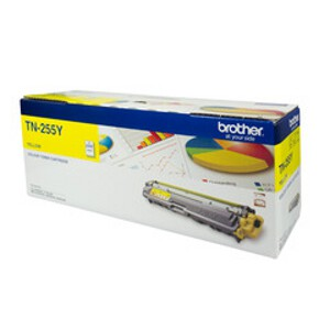 Brother TN-255Y Yellow High Yield Toner Cartridge (2,200 Pages)