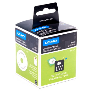 DYMO CD/DVD - PAPER/WHITE 57mm DIAMETER 1 Roll/Box 160 Labels/Roll