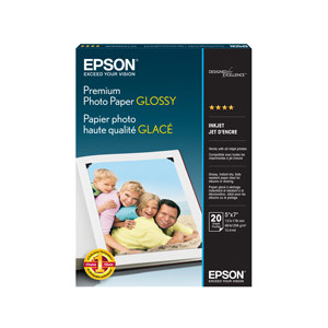 Epson Premium Glossy Photo Paper 5 x 7 20 Sheets Per Pack