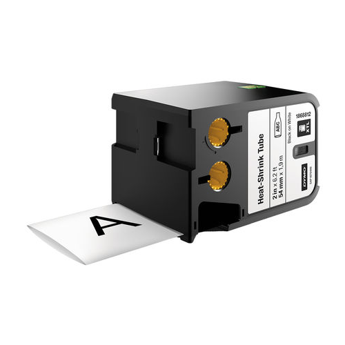 DYMO XTL 54mm Black/White HST Cont Tape