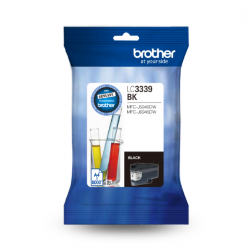 Brother LC-3339XLBK Super High Yield Black Ink Cartridge to suit MFC-J6945DW, up to 6000 pages