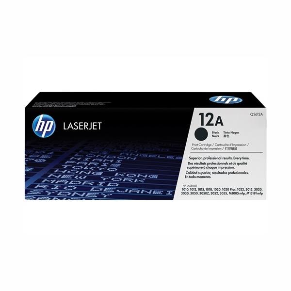 HP Q2612A #12A Black LaserJet Toner (2,000 Yield)
