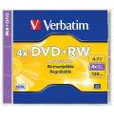 Verbatim 95071 DataLife DVD+RW, 4.7GB Disc, Jewel Case, 1 Pack, 4x Max