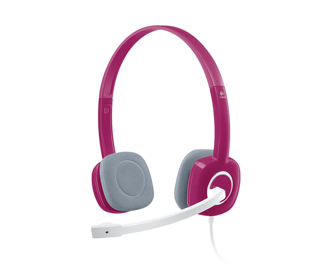 Logitech 981-000455 H150 Stereo Headset (3.5mm input and output jacks) - Pink