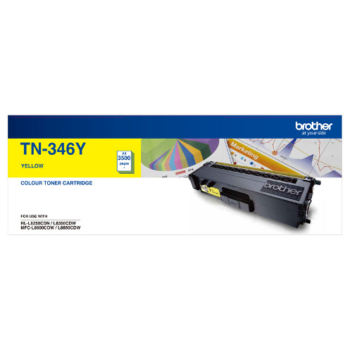 Brother TN-346Y High Yield Yellow Toner Cartridge - 3500 pages