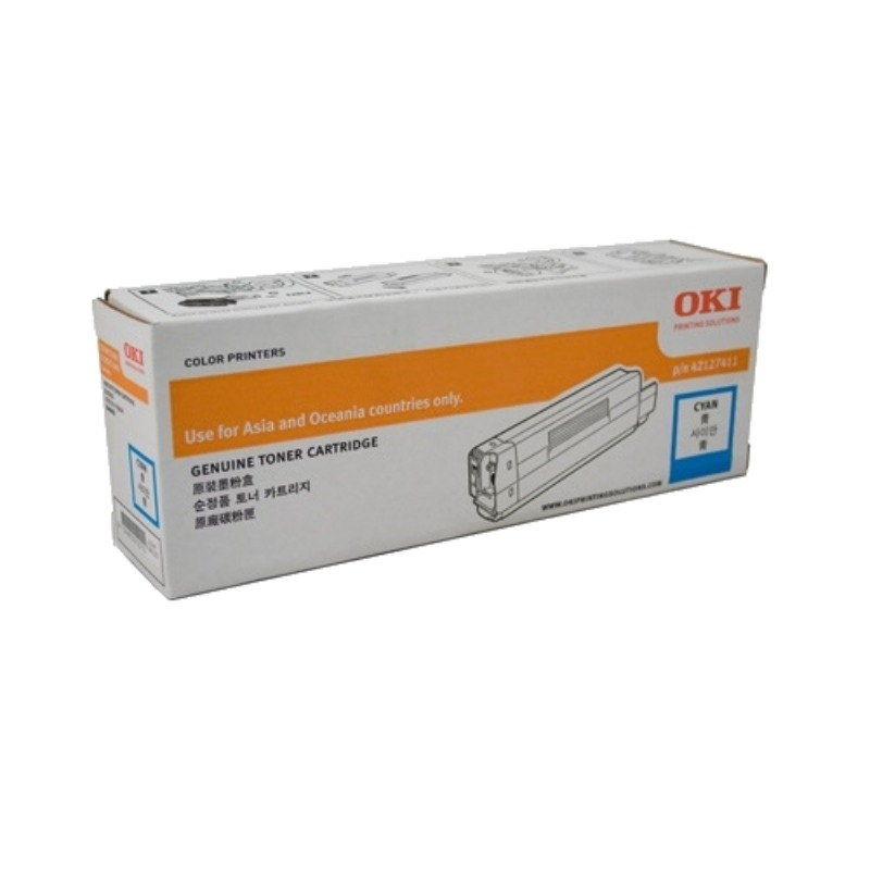 OKI 46507511 Cyan Toner Cartridge For C612; 6,000 Pages @ (ISO)