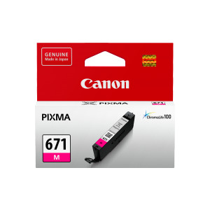 Canon CLI671M Standard Capacity Magenta Ink Tank to suit MG5760,6860,7760 (Yield, 347 pages)