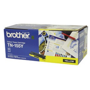 Brother TN-155Y Yellow Toner Cartridge (4000 Yield)