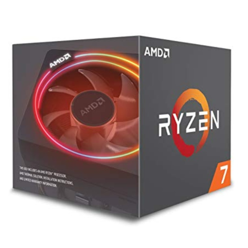 AMD Ryzen 7 2700X, 8-Core/16-Thread, Unlocked, 4.35GHz, Socket AM4 with Wraith Prism cooler