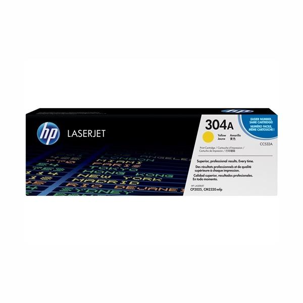 HP CC532A #304A Yellow Toner Cartridge (2,800 Yield)