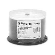 Verbatim DVD-R 4.7GB White Thermal - Wide 50 Pack Spindle 8x