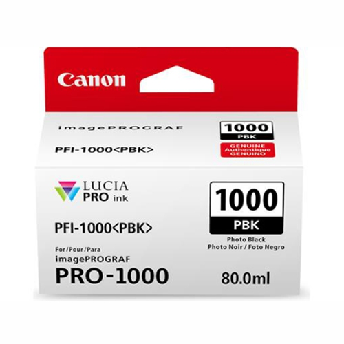 Canon PFI1000PBK Black Ink Tank (Yield, up to 256 pages)