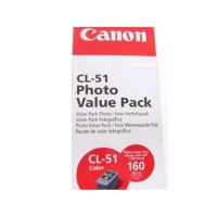 Canon CL51VP ChromaLife Value Pack including CL51 Cartridge and PP1014x6 (160 Sheets)