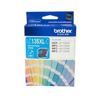 Brother LC-135XLC High Yield Cyan Ink Cartridge (Yeild, up to 1,200 pages)
